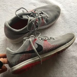 Comfortable red and grey Nike fury